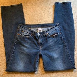 Lucky Dark Denim Jeans Mid Rise Flare 12